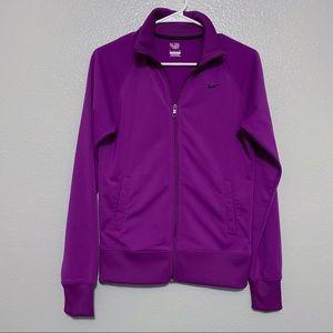 Nike Purple Full Zip Long Sleeve Jacket